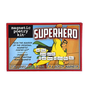 Superhero - Fridge Magnet Set - Fridge Poetry Thumbnail 1
