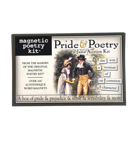 Pride and Poetry: A Jane Austen Kit- Fridge Magnet Set - Fridge Poetry