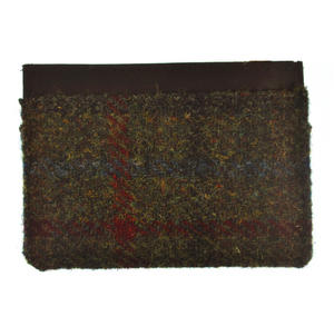 Green / Red Harris Tweed Credit Card Wallet