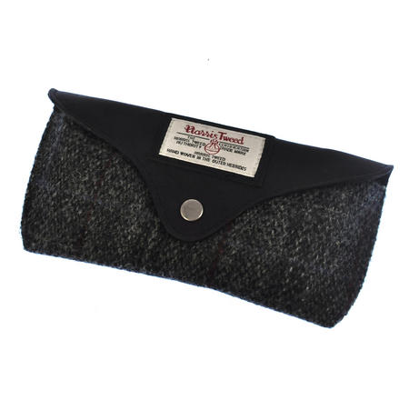 Grey Harris Tweed Glasses Case