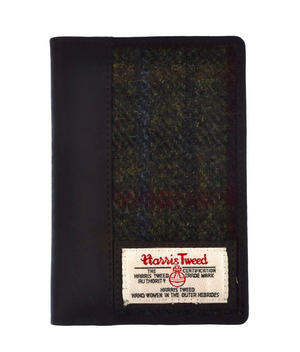 Red / Green Harris Tweed Passport Wallet Thumbnail 2