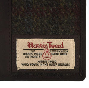 Red / Green Harris Tweed Passport Wallet Thumbnail 3