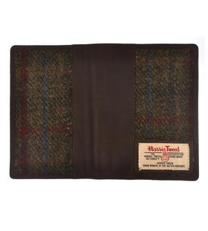 Red / Green Harris Tweed Passport Wallet Thumbnail 5