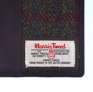 Red / Green Harris Tweed Passport Wallet Thumbnail 6