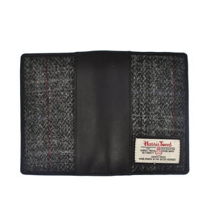 Grey Harris Tweed Passport Wallet
