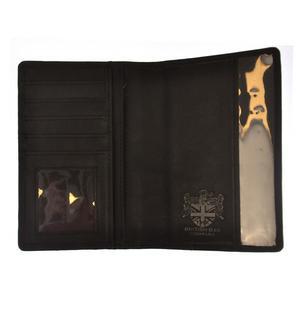 Grey Harris Tweed Passport Wallet Thumbnail 2