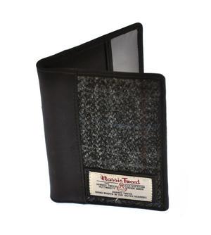 Grey Harris Tweed Passport Wallet Thumbnail 3