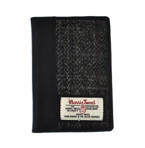 Grey Harris Tweed Passport Wallet Thumbnail 4