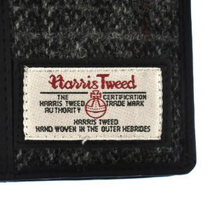 Grey Harris Tweed Passport Wallet Thumbnail 5