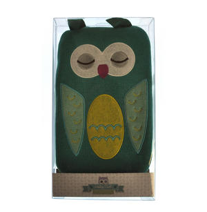 Green Dotty Owl - Hot Water Bottle - 1 Litre / 35 fl oz Thumbnail 3