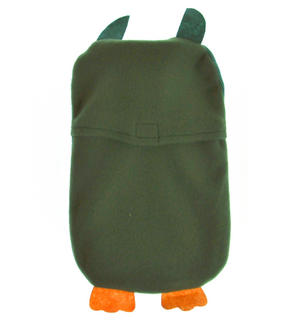 Green Dotty Owl - Hot Water Bottle - 1 Litre / 35 fl oz Thumbnail 4