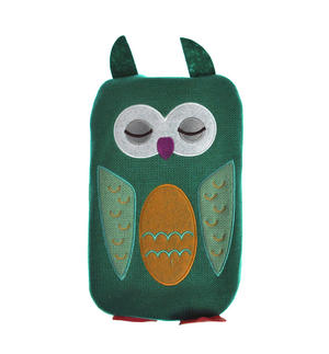 Green Dotty Owl - Hot Water Bottle - 1 Litre / 35 fl oz Thumbnail 5