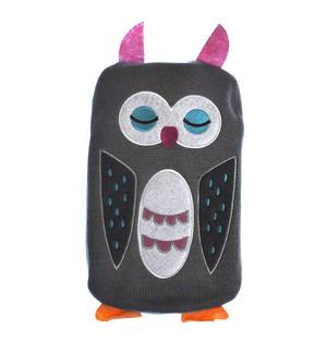 Grey Dotty Owl - Hot Water Bottle - 1 Litre / 35 fl oz Thumbnail 4