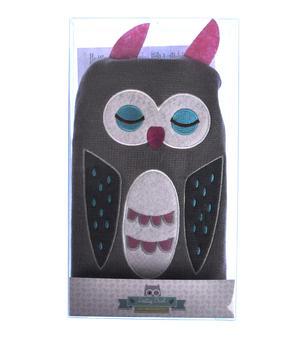 Grey Dotty Owl - Hot Water Bottle - 1 Litre / 35 fl oz Thumbnail 5