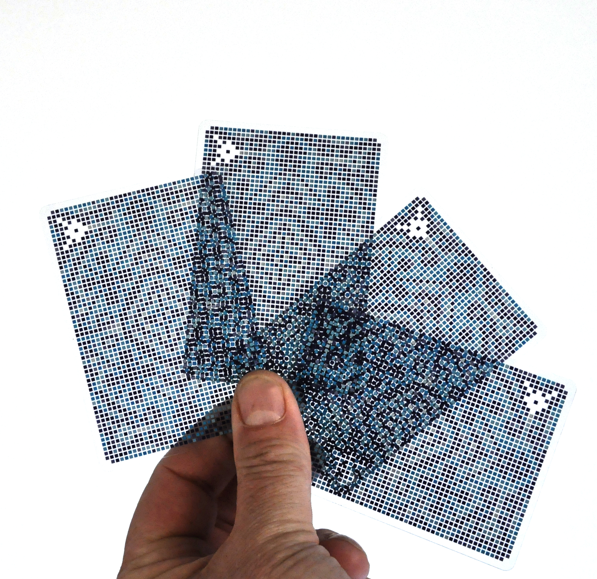 Pixel Cards Cheat Resistance Transparent Playing Cards