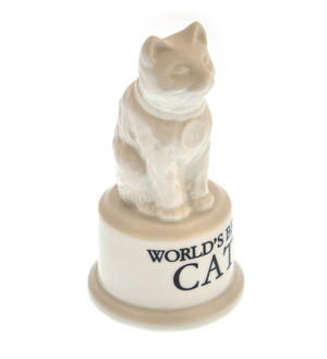 "World's Best Cat Trophy -  Ceramic Cat 5"" / 12.7 cm Thumbnail 3"