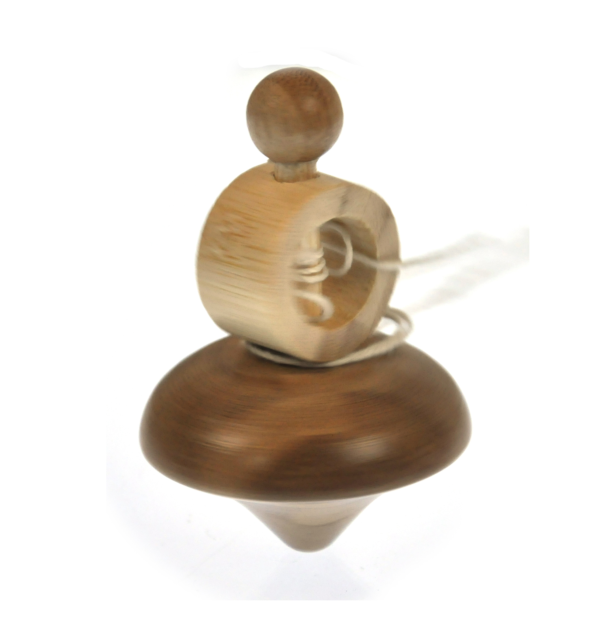 Classic Solid Wood Spinning Top | Pink Cat Shop