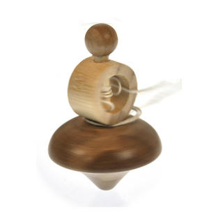 Classic Solid Wood Spinning Top Thumbnail 5