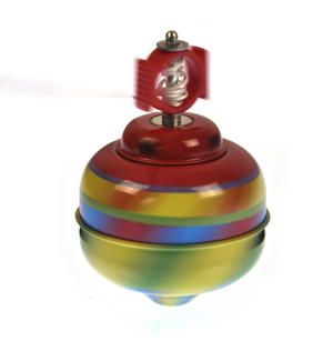 Whistling Self Winding Tin Spinning Top - Random Colours Thumbnail 1