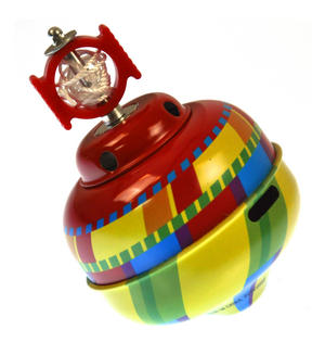 Whistling Self Winding Tin Spinning Top - Random Colours Thumbnail 3