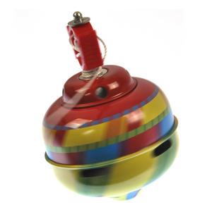 Whistling Self Winding Tin Spinning Top - Random Colours Thumbnail 4