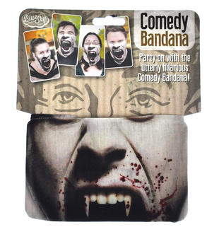 Vampire Comedy Bandana - One Size Stretchy Face Mask Thumbnail 1