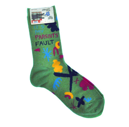 It's My Parents' Fault - Soft Combed Cotton Socks - Women's Crew
