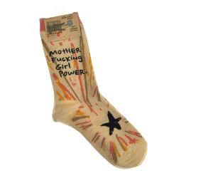 Motherf*cking Girl Power - Soft Combed Cotton Socks - Women's Crew Thumbnail 1