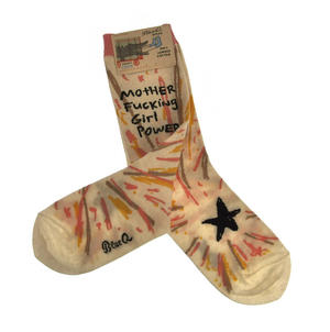 Motherf*cking Girl Power - Soft Combed Cotton Socks - Women's Crew Thumbnail 2