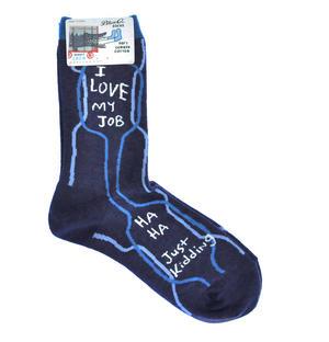 I Love My Job. Ha Ha. Just Kidding. - Soft Combed Cotton Socks - Women's Crew Thumbnail 1