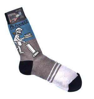 Mr. Perfect - Soft Combed Cotton Socks - Men's Crew Thumbnail 1
