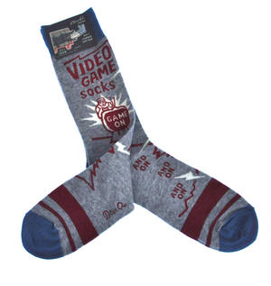 Video Game Socks. Game On, and On, and On - Soft Combed Cotton Socks - Men's Crew Thumbnail 2