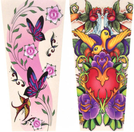 Girls' Tattoo Sleeves - Set of 2 -Random Designs