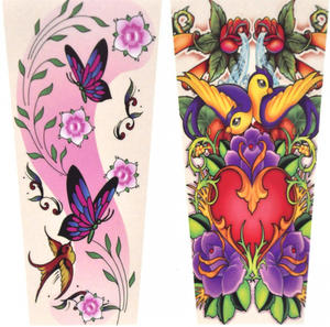 Girls' Tattoo Sleeves - Set of 2 -Random Designs Thumbnail 1