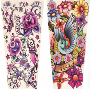 Girls' Tattoo Sleeves - Set of 2 -Random Designs Thumbnail 5