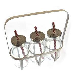 Garden Drinks - Bug Safe Glass Gardener's Drinks Carrier Set - 3 x 200ml Bottles with Straws Thumbnail 3