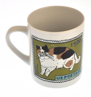 Exotic Blue - 1st Class Mug - Magpie Mug by Charlotte Farmer - Exotic Shorthair Cat & Blue Cat Thumbnail 1