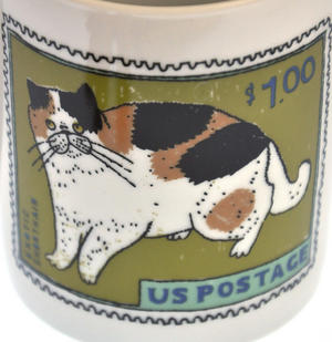 Exotic Blue - 1st Class Mug - Magpie Mug by Charlotte Farmer - Exotic Shorthair Cat & Blue Cat Thumbnail 3