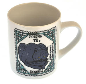 Exotic Blue - 1st Class Mug - Magpie Mug by Charlotte Farmer - Exotic Shorthair Cat & Blue Cat Thumbnail 5
