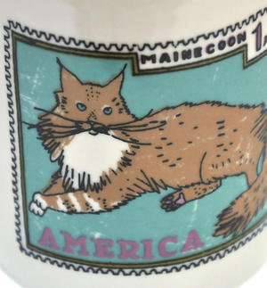 British Maine - 1st Class Mug - Magpie Mug by Charlotte Farmer - Maincoon Cat & British Shorthair Cat Thumbnail 3