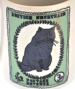British Maine - 1st Class Mug - Magpie Mug by Charlotte Farmer - Maincoon Cat & British Shorthair Cat Thumbnail 4