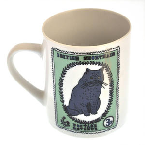British Maine - 1st Class Mug - Magpie Mug by Charlotte Farmer - Maincoon Cat & British Shorthair Cat Thumbnail 5