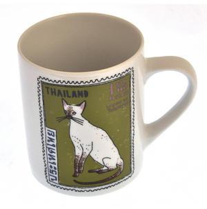 Per Siamese - 1st Class Mug - Magpie Mug by Charlotte Farmer - Persian Kittens & Thailand Cat Thumbnail 2