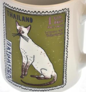 Per Siamese - 1st Class Mug - Magpie Mug by Charlotte Farmer - Persian Kittens & Thailand Cat Thumbnail 4