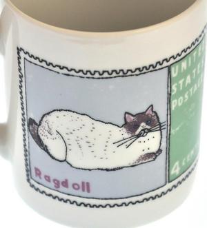 Burmese Doll - 1st Class Mug - Magpie Mug by Charlotte Farmer - Ragdoll Cat & Burmese Cat Thumbnail 4