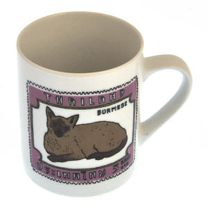 Burmese Doll - 1st Class Mug - Magpie Mug by Charlotte Farmer - Ragdoll Cat & Burmese Cat Thumbnail 5