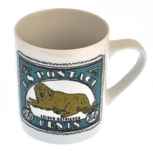 Gussell - 1st Class Mug - Magpie Mug by Charlotte Farmer - Jack Russell Terrier & Golden Retriever Thumbnail 5