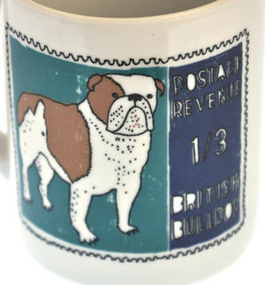 Boodle- 1st Class Mug - Magpie Mug by Charlotte Farmer - British Bulldog & French Poodle Thumbnail 2