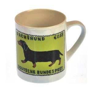 Dorkie - 1st Class Mug - Magpie Mug by Charlotte Farmer - Dachshund & Yorkshire Terrier Thumbnail 1
