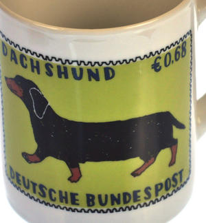 Dorkie - 1st Class Mug - Magpie Mug by Charlotte Farmer - Dachshund & Yorkshire Terrier Thumbnail 3